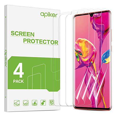 apiker 【4 Stück】 TPU Schutzfolie Displayschutzfolie für Huawei P30 Pro, [Anti-Kratzen], [Anti-Öl], [Anti-Bläschen], [Hohe Definition], [Hohe Empfindlichkeit]