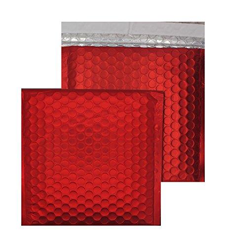 Mailer Cd Gepolsterte (Purely Haftklebetaschen, CD-Format, 165 x 165 mm, haftklebend, Metallic Matt, Gepolsterte Versandtasche, Chili Haze (100 Stück))
