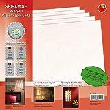 EFCO - Shiramine Washi Papier mit wei�en Seidenfasern 30 x 30 cm 32 Blatt / 80 g/m² wei�