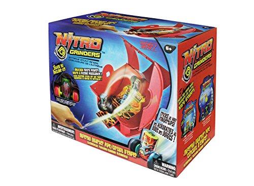 NITRO GRINDERS 33264A  - Startset Mit Rampe- Inferno Quarter Pipe, Fingerboards, Mini-BMX und Zubehör