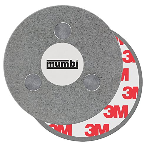 mumbi Magnet Befestigung für Rauchmelder Magnetbefestigung MIT 3 Fixier Punkten für glatte...
