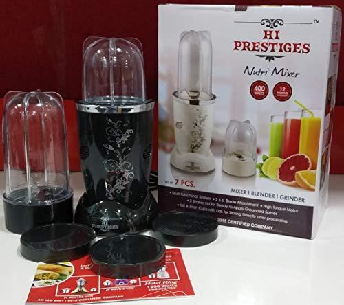 Hi-Prestiges Nutri Bullet Mixer Grinder and Juicer 400 W (Black)