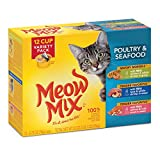 Meow Mix Poultry and Seafood Wet Cat Food Variety Pack, 2.75-Ounce Cups (Pack of 12)(Pack Of 4)
