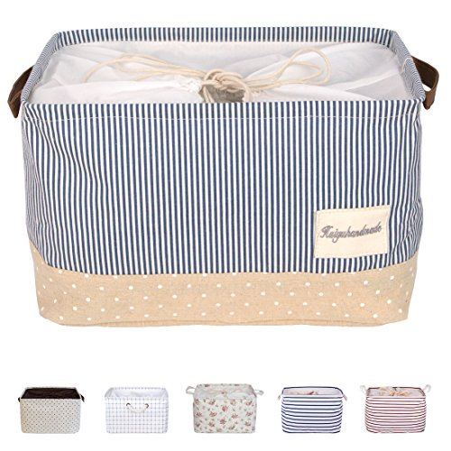 dokehom-dka0611bbs-square-cotton-linen-laundry-basket-storage-available-in-6-colours-navy-blue