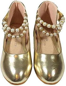 TZ _Online Niña infantil Hermosa Princesa Zapatos Zapatos de Baile Zapatos de Diario/Fiesta/Zapatos de Noche Escuela...
