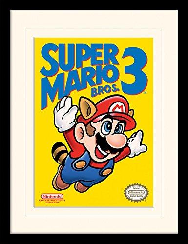 (1art1 102023 Super Mario - Bros. 3, NES Cover Gerahmtes Poster Für Fans Und Sammler 40 x 30 cm)