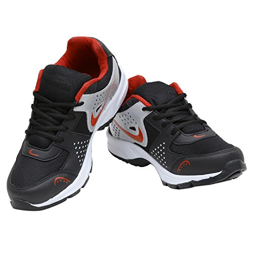 Calaso Men's Running Sport Shoes (Aero-Nike-Silver-Red-28_6)  available at amazon for Rs.599