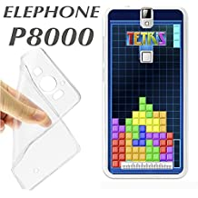 ELEPHONE P8000 P 8000 CARCASA FUNDA K124 JUEGO TETRIS PANTALLA RETRO