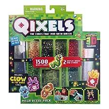 Qixels sind Würfel in allen Farben, mit denen man Figuren und Motive formen kann. Einfach ein wenig Wasser aufsprühen, damit Ihre Kreation fixiert wird, wenn sie fertig ist. Kein Erwärmen mit dem Bügeleisen notwendig; die Qixels kleben durch eine ein...