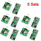 Aihasd 5 Pair 433MHz RF wireless Transmitter and Receiver module kit Für Arduino Raspberry Pi