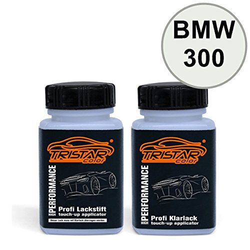 Preisvergleich Produktbild Lackstift Set BMW 300 Alpinweiss III / Alpine White 3 - Autolack & Klarlack - je 50 ml