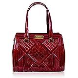 Valentino Orlandi Italienische Designer Cherry Red Leder Statement Tasche