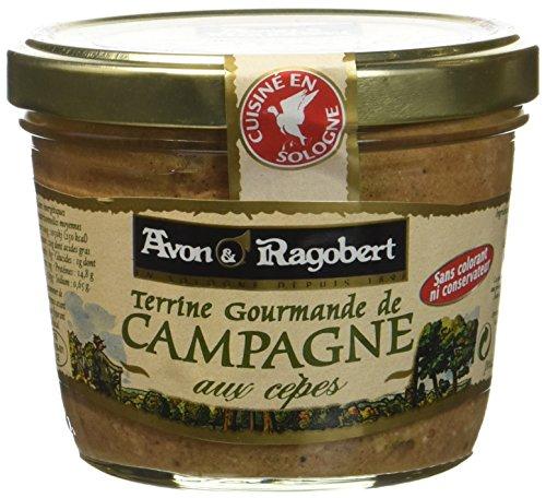 Avon & Ragobert Terrine de Campagne aux Cèpes 180 g - Lot de 4