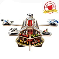 Base Ace 3D Play Platform for Mini Figures, Kit 3 Special Edition with Expansion Pack, compatible with all major construction toy building brick brands