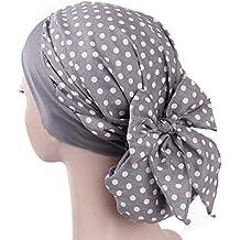 Mamum Chapeau rétro, Turban Foulard Islamique Bonnet Chimio Cancer Perte de  Cheveux ... c4d2c8d6138