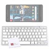 DURAGADGET Tastiera Wireless per Telefono Cellulare Google Pixel 2 - Pixel 2 XL | Haier V6 + Panno di Pulizia - Molto Leggera - Compatibile con iOS e Android