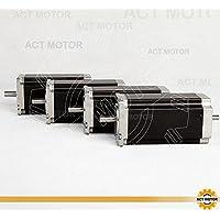 Act Motor GmbH 4pcs NEMA 23Stepper Motor 23hs2430b 112mm 3.0N.M, 3.0a, Dual Shaft