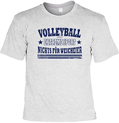 Volleyball T-Shirt - Geschenk Sportler : Volleyball Extreme Sport - Goodman Design - Fun Sportshirt Gr: XXL Farbe: grau (T-shirt Volleyball Designs)
