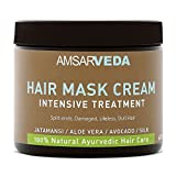 Amsarveda 100% Natural Hair Mask Cream - Intensive Treatment, 400ml