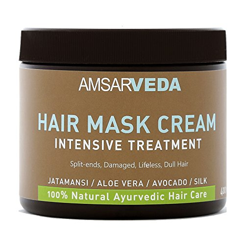 Amsarveda 100% Natural Hair Mask Cream - Intensive Treatment, 400ml