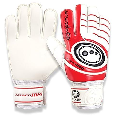 Optimum Men's Mosquito MX1 Goalkeeper Gloves - White/Red/Black, Size