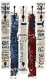 Artland Wand-Garderobe mit Motiv 5 Holz-Paneele mit Haken Jule Reisen Statement Bilder Sprüche & Texte Graphische Kunst Creme 114 x 68 x 2,8 cm