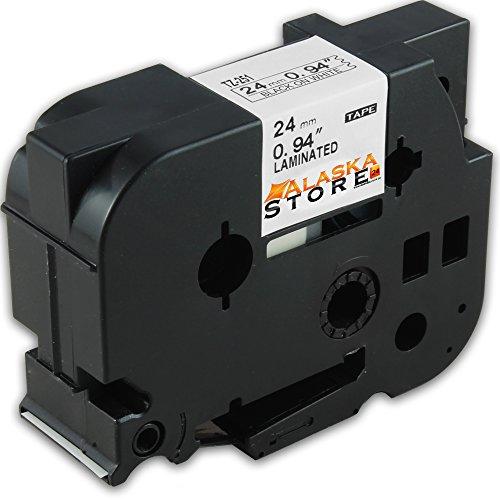 Preisvergleich Produktbild 1x Schriftband - Kassette für Brother TZ Tape 251 Schwarz 24mm P-Touch