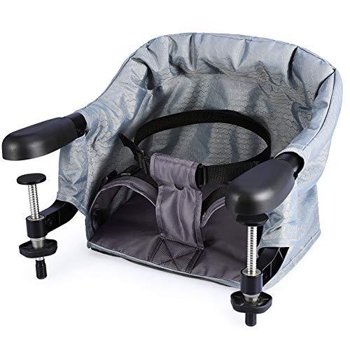 Babysitz, Tischsitz Baby, Tisch Kindersitz mit Easy Lunch, Faltbarer Babysitz Für Zuhause und Unterwegs, Stuhlsitz mit Klappbarer Schraubfixierung