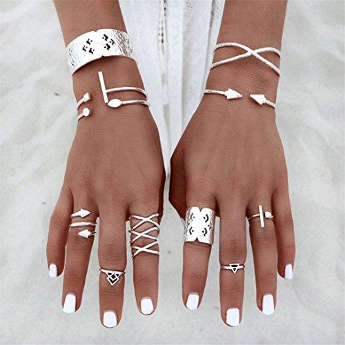 Ring Set Damen Gold Boho Ringe Finger Tip Ring Schmuck Set ()