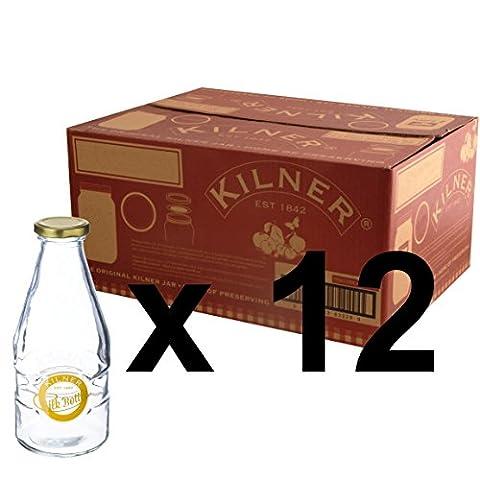 Kilner Set of 12 1 Pint 568ml Twist Top Glass