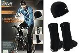 Crivit® Sport Fahrrad Funktions Kleidung Mütze + Überschuhe Softshell Winddicht