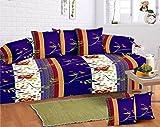 #10: Home Elite 8 Piece 104 TC Cotton Diwan Set - Multicolour