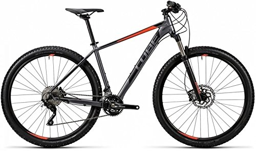 "Cube Attention SL 27.5R Mountain Bike 2016 (grey´n´flashred, 18"")"