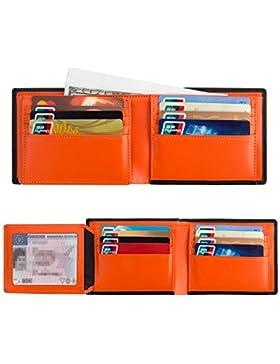 Cartera Para Hombre RFID Billetera Billetero Delgado de Cuero Cartera de Hombre Pequeño