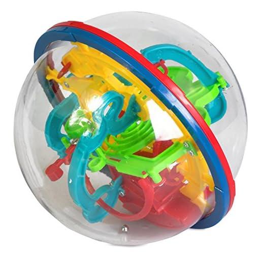 Grinscard-Kugellabyrinth-3D-Maze-Ball-Geschicklichkeitsspiel-Durchmesser-ca-12-cm-Labyrinthkugel-fr-Kinder