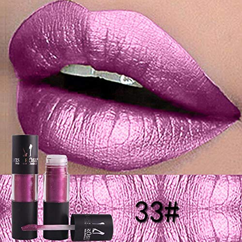 NOTE Diamond Metallic Lipstick Lip Tint Makeup 12 Colors Sexy Shimmer Long-Lasting Liquid Lip Gloss Paint Pigment Waterproof Cosmetic - Lip Color Shimmer