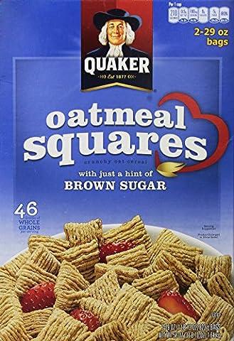 Quaker Oatmeal Squares Crunchy Oatmeal Cereal 58 Ounces
