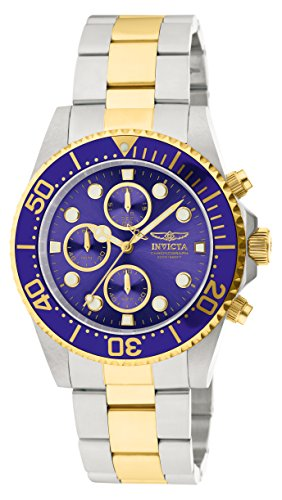 Invicta 1773 Pro Diver Men's Wrist Watch Stainless Steel Quartz Blue Dial