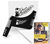 Professional Beard Shaping Tool with FREE 20 page PRINTED Beard Guide Book. Beard Shaper for achieving perfect Beard Lines. Shape your Beard with ease using this Beard Shaping Template.