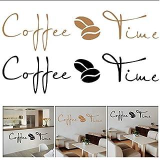 Shifeii Kaffee Zeit Cafe Wandaufkleber Sprichwort Englisch Wandaufkleber Cafe Küche Dekoration Kunst Wand Abnehmbare Wohnkultur Wohnzimmer
