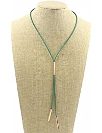 West7 Velvet Long Rope Choker Necklace | Elegant Necklace For Party/Casual Wear | Sleek Necklace With Pendant...