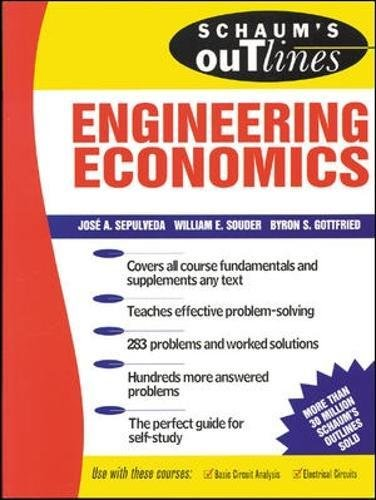 Schaums Outline of Engineering Economics (Schaum's Outline Series)