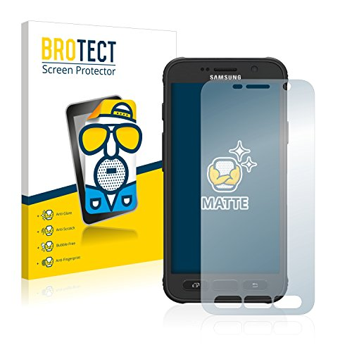BROTECT Schutzfolie Matt für Samsung Galaxy S7 Active Displayschutzfolie [2er Pack] - Anti-Reflex Displayfolie, Anti-Fingerprint, Anti-Kratzer