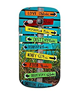 PrintVisa Designer Back Case Cover for Samsung Galaxy S3 Mini I8190 :: Samsung I8190 Galaxy S Iii Mini :: Samsung I8190N Galaxy S Iii Mini (The Cool Mile Stone Design)