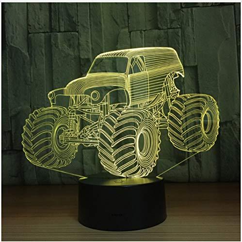 Mode Lkw Auto 3D Led-Leuchten Led Sensor Tischlampe Usb Lampe Als Home Art Dekorationen Neujahr Jungen Geschenk Touch Schalter - Jungen Wie Lkw-lampe