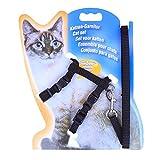 Aolvo Geschirr Verstellbar Katze Geschirr für Katzen pupppies Thoracica Traktion Seil Nylon Halsband mit Leine