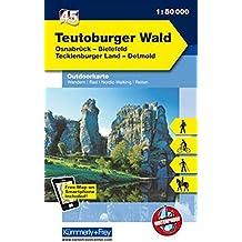 Deutschland Outdoorkarte 45 Teutoburger Wald 1 : 50.000: Wanderwege, Radwanderwege, Nordic Walking, Skilanglauf (Kümmerly+Frey Outdoorkarten Deutschland)