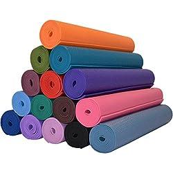 Janjua Sports Yoga Matt Eco-Friendly Matt Excersie Study Picnic 6 MM ( Color May Vary )