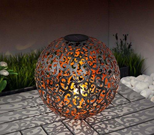 dehner solarkugel luanda 30 cm metall silber kupfer von dehner du und dein garten. Black Bedroom Furniture Sets. Home Design Ideas