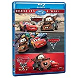 Blu-ray Carros Trilogia [ Cars Trilogy 4-Disc Set] [ Cars 1 | Cars 2 | Cars Toon ] [ Audio and Subtitles in English + Portuguese ]